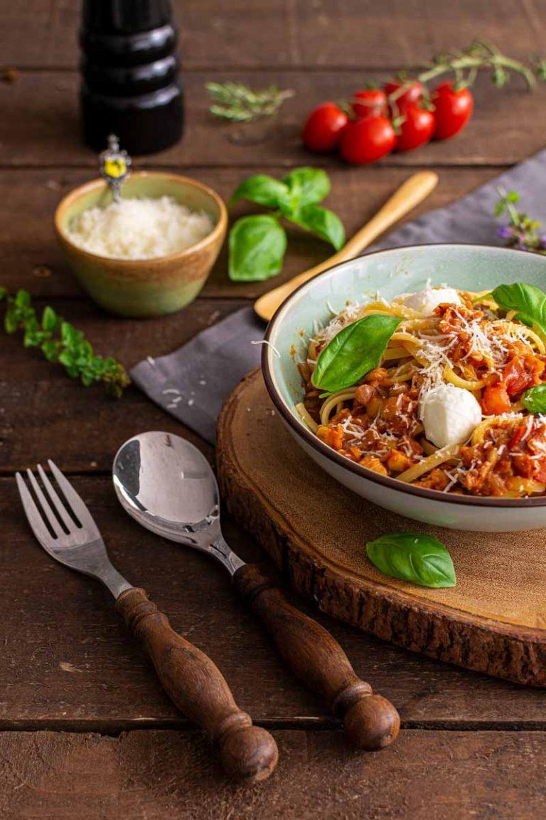 Vegetarische Linsen Bolognese Rezept