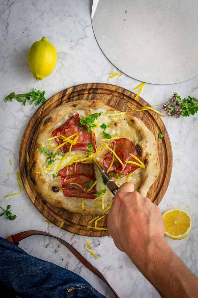 Pizza al Limone Zitronenpizza Rezept
