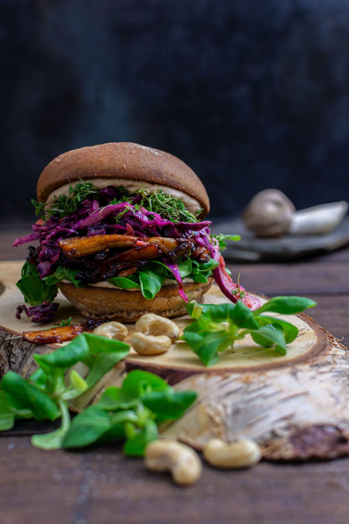 Veggie Burger Felix`Kochbook Foodfotografie aus Münster Portfolio