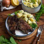 Bärlauch Nackensteaks mit Kartoffelsalat 1000 gute Gründe Rezept
